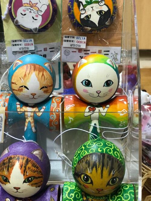 NECOL鎌倉で販売している猫のけん玉&ヨーヨー