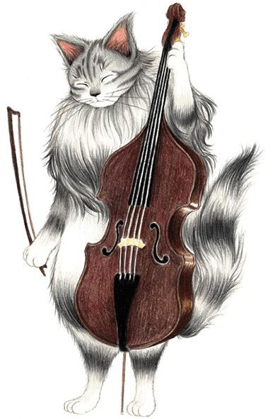 キャットシンフォニカのコントラバス奏者、サイベリアンのトロフィム・チェルヴィンスキー