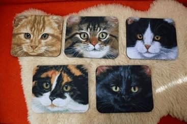 アメリカ製の猫イラスト マウスパット