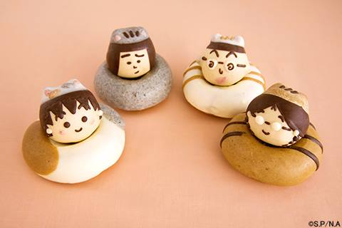 「ちびまる子にゃん」4種類のドーナツ