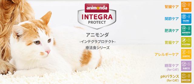 アニモンダのペット用の療法食シリーズ「インテグラプロテクト」