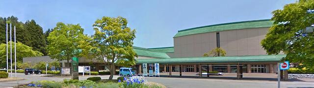 岩手県奥州市、胆沢図書館の外観