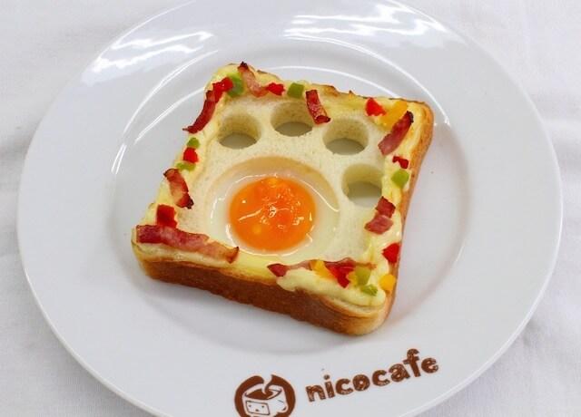 ニコカフェの限定猫メニュー、肉球エッグトースト