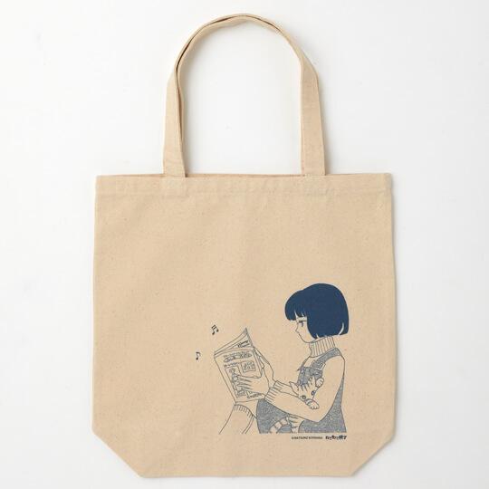 清原なつのが描いた猫漫画「じゃあまたね」をデザインしたトートバッグ