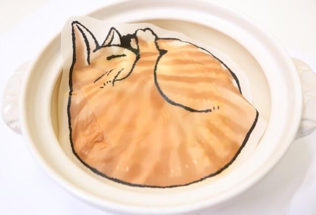 ニコカフェの限定猫メニュー、猫鍋オムライス