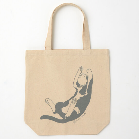 新久千映の猫漫画「ねこびたし」をデザインしたトートバッグ