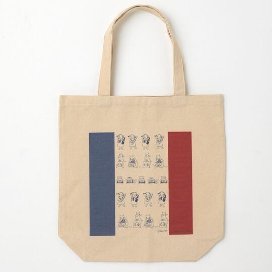 よんじょう氏のエッセイ「南仏ネコ絵巻」をデザインしたトートバッグ