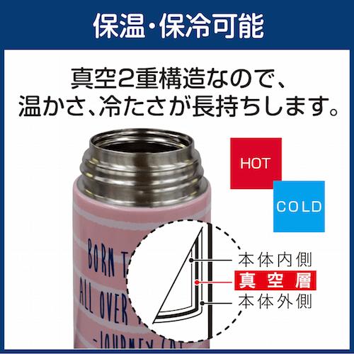 and sun's(アンドサンズ)のステンレスカバーボトルは保温・保冷機能を搭載