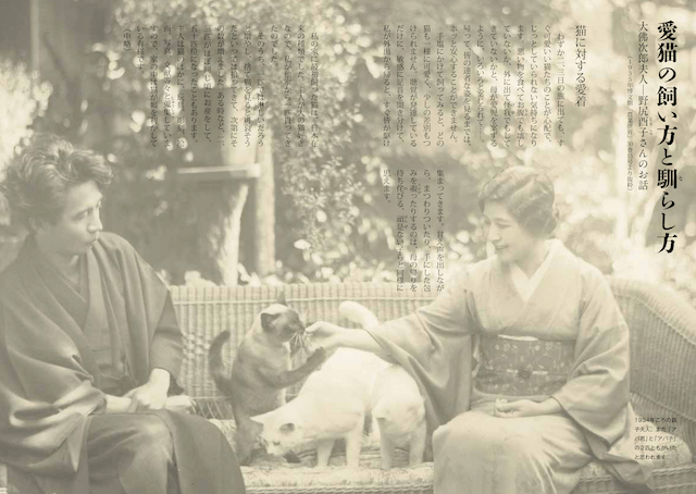 大佛次郎の妻、酉子夫人による猫の飼い方論