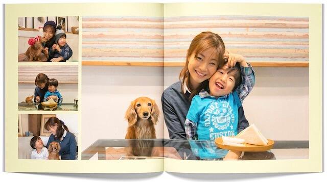 「PhotoJewel S(フォトジュエル・エス)」で作成したペットと家族のフォトブック