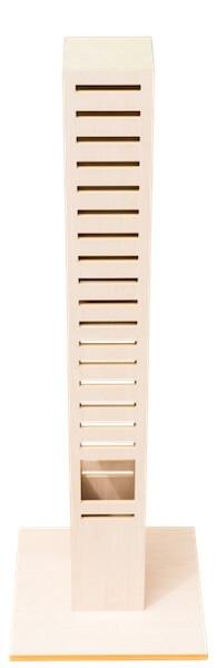 オシャレでスリムなキャットタワー「necobacoT」の全体写真