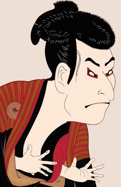 歌舞伎役者のイメージイラスト