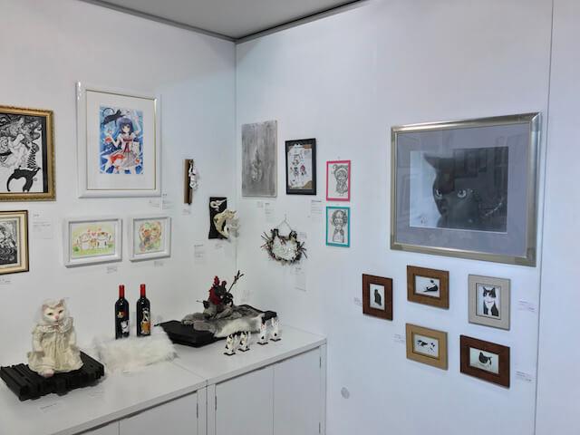 「パリ・NEKO・コレクション」のイラスト作品も