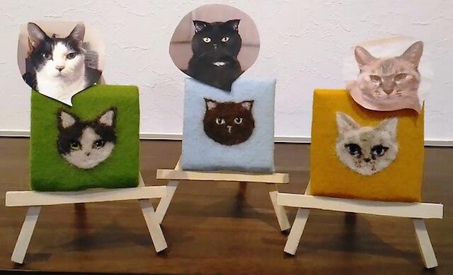 愛猫の毛を集めて作った猫毛ポートレート(猫毛フェルター蔦谷K)
