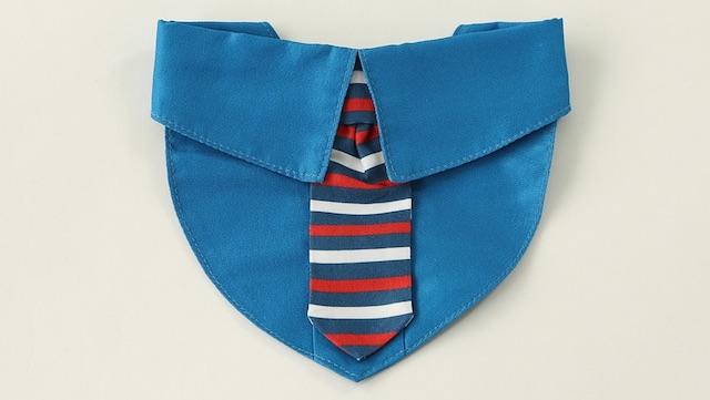 3COINS(スリーコインズ)」の猫でも装着できる襟付きネクタイ