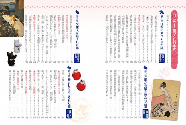 書籍「猫づくし日本史」の目次