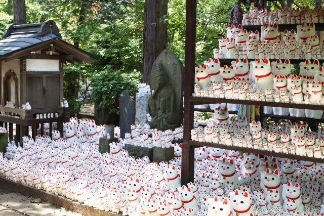 招き猫発祥の地として知られる東京・世田谷区の豪徳寺