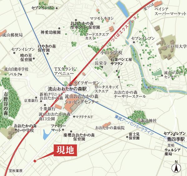 ねこと暮らす家の現地案内図