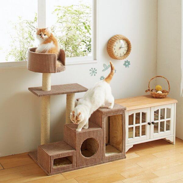 高齢猫用のキャットタワー