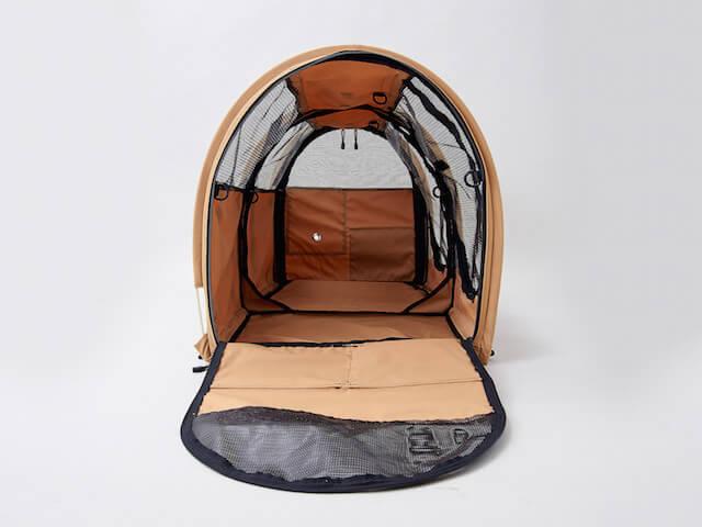 猫キャリーバッグ「ペットツインカーゴ」の内部画像