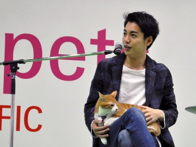 インターペットで大野拓朗&金時による猫忍トークイベントが開催
