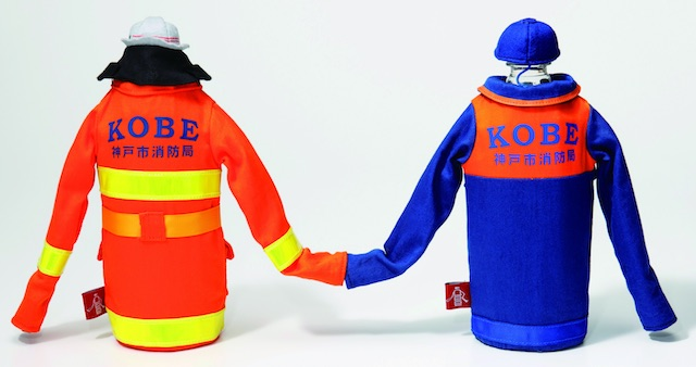 消防服デザインのペットボトルホルダー「ミュニデ®」