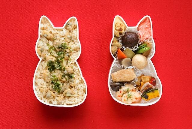 福ねこ弁当の中身(ご飯+おかず)