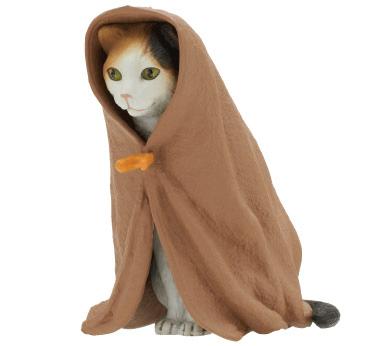 猫フィギュア「ねこくるみ」、三毛猫バージョン