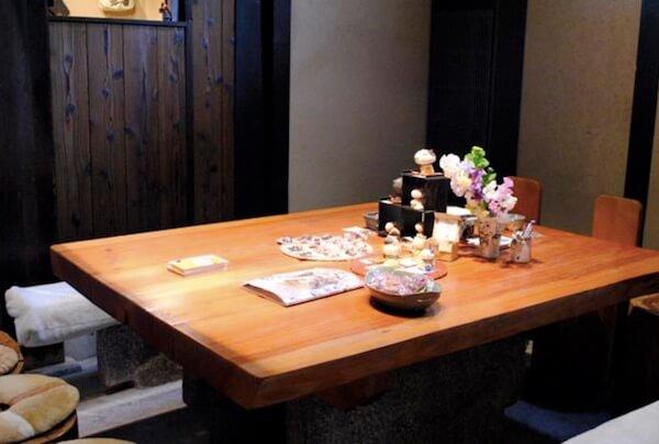 ゆめいろミュージアム内の飲食スペース茶論コーナー