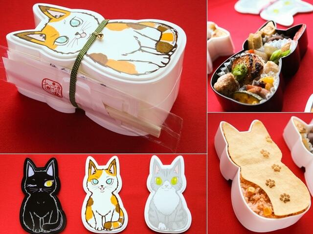 食べた後も再利用できるネコ型のお弁当「福ねこ弁当」が登場