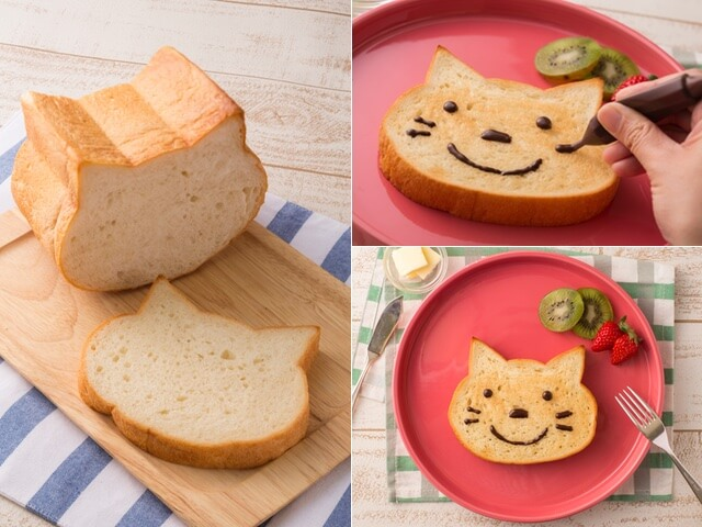 切っても描いても楽しい「ねこ型」の食パンが登場したにゃ