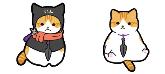 アプリ「玉之丞のおでかけ」に追加された新キャラ、猫忍・父上役の猫(金時)