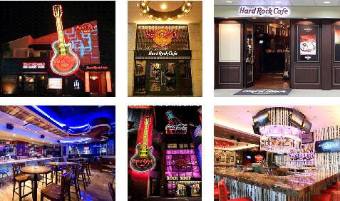 日本国内にある6店舗のハードロックカフェ