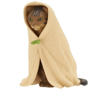 猫フィギュア「ねこくるみ」、キジトラバージョン