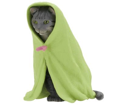猫フィギュア「ねこくるみ」、サバトラバージョン