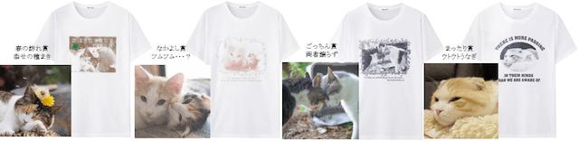 いやしネコ大賞のオリジナルTシャツ