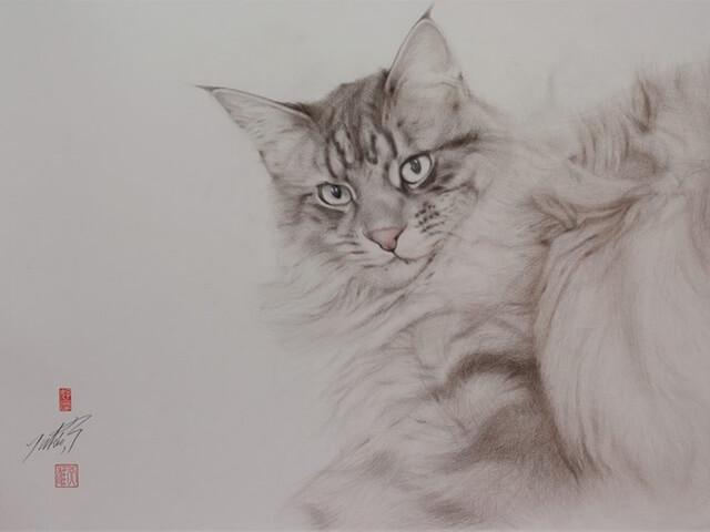 猫の絵描き、高橋行雄さんの個展が6/14から銀座で開催