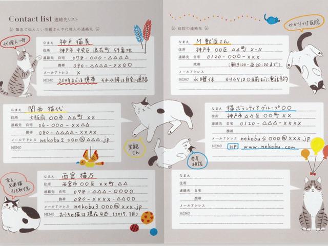 簡単に記録して猫の体調管理ができる「愛猫健康手帳」