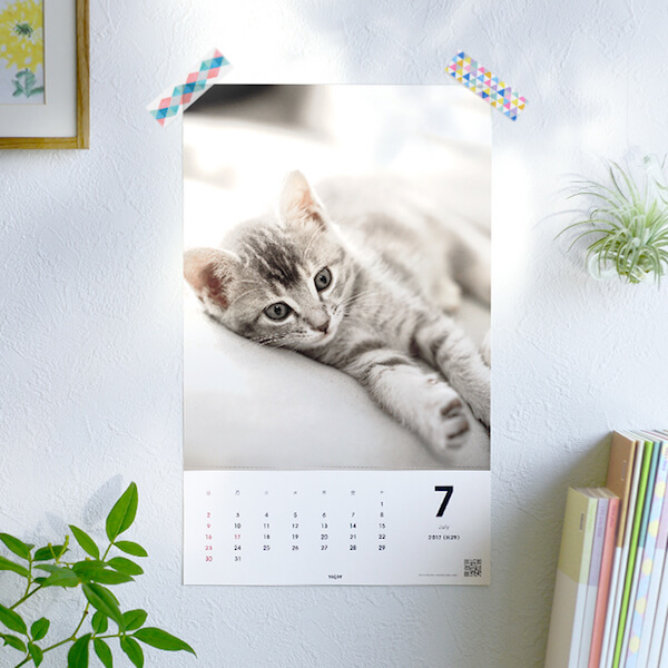 「TOLOT」(トロット)で作った猫のカレンダー