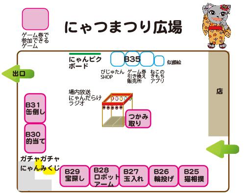 猫イベント「にゃんだらけVol.4」にゃつまつり広場の図
