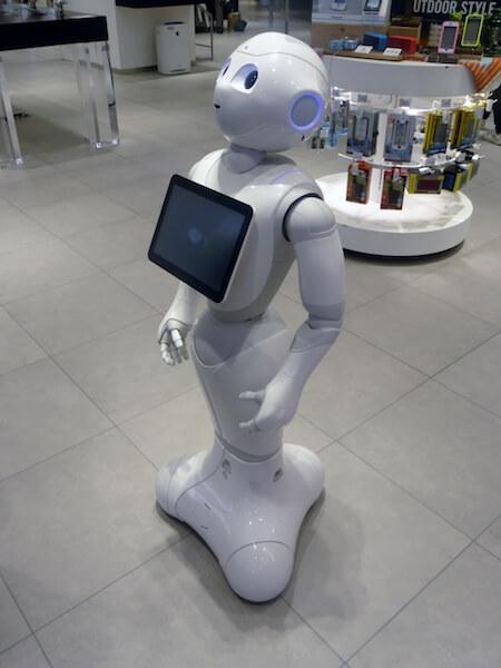 ロボットのPepper(ペッパーくん)