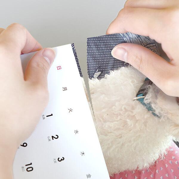 「TOLOT」(トロット)のカレンダーは写真部分がミシン目になっているので、写真だけ切り離すことが可能