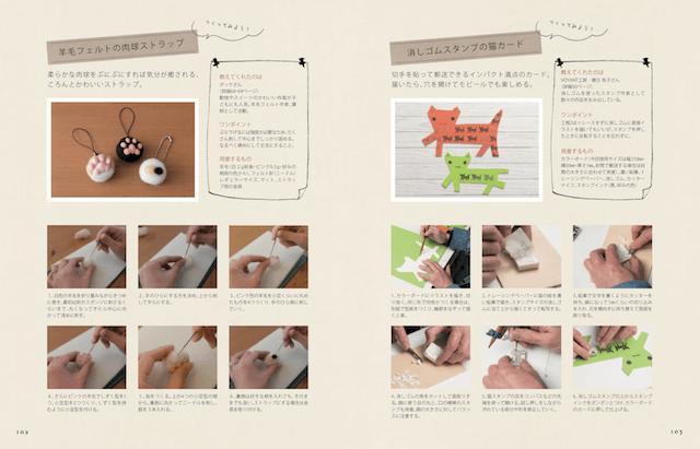 作家による羊毛フェルトを使った猫作品の作り方解説ページ