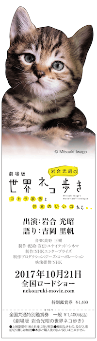 「劇場版 岩合光昭の世界ネコ歩き コトラ家族と世界のいいコたち」の前売り券