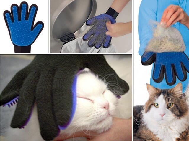 愛猫を撫でるだけでブラッシング!手袋型のペット用ブラシ・トゥルータッチ