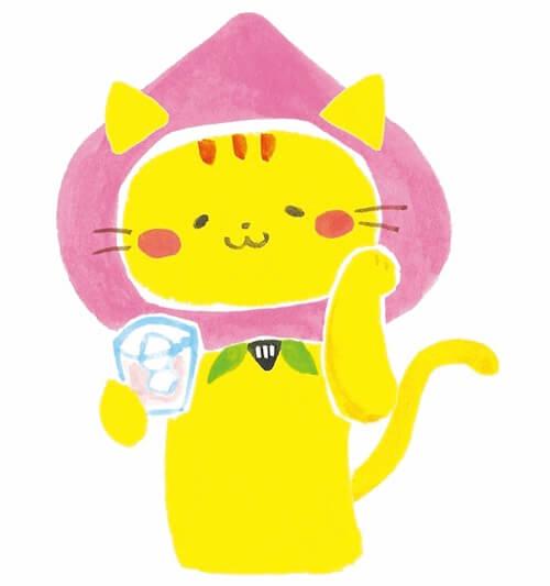 楯の川酒造の猫キャラクター、たてにゃん