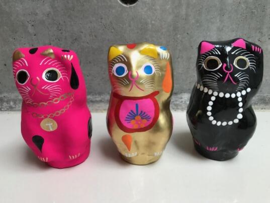 POMPOMCAT×アトリエガング幸せを呼び寄せる招き猫