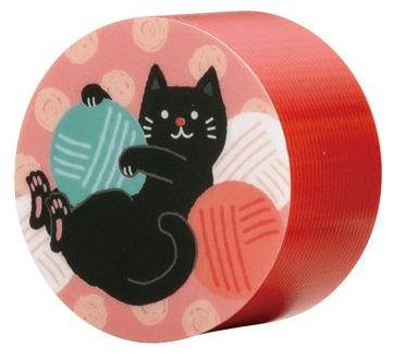 ディアキチ ワザアリテープ、ネコ柄のホルダー