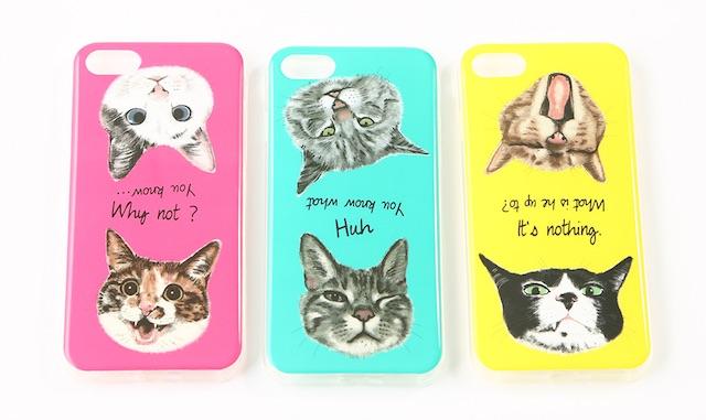 3COINSの「きゅんネコ」iPhoneケース