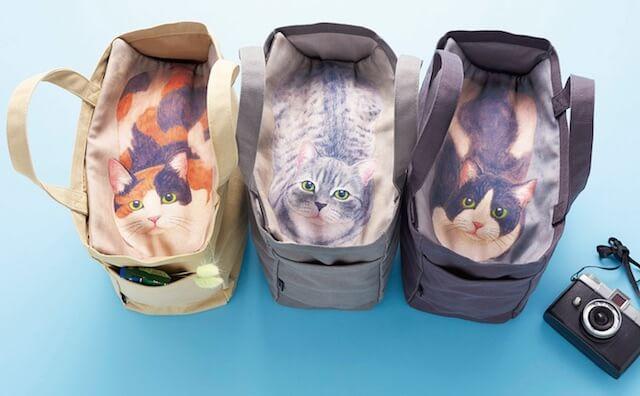 トートバッグはミケ、サバトラ、ハチワレクロの3種類